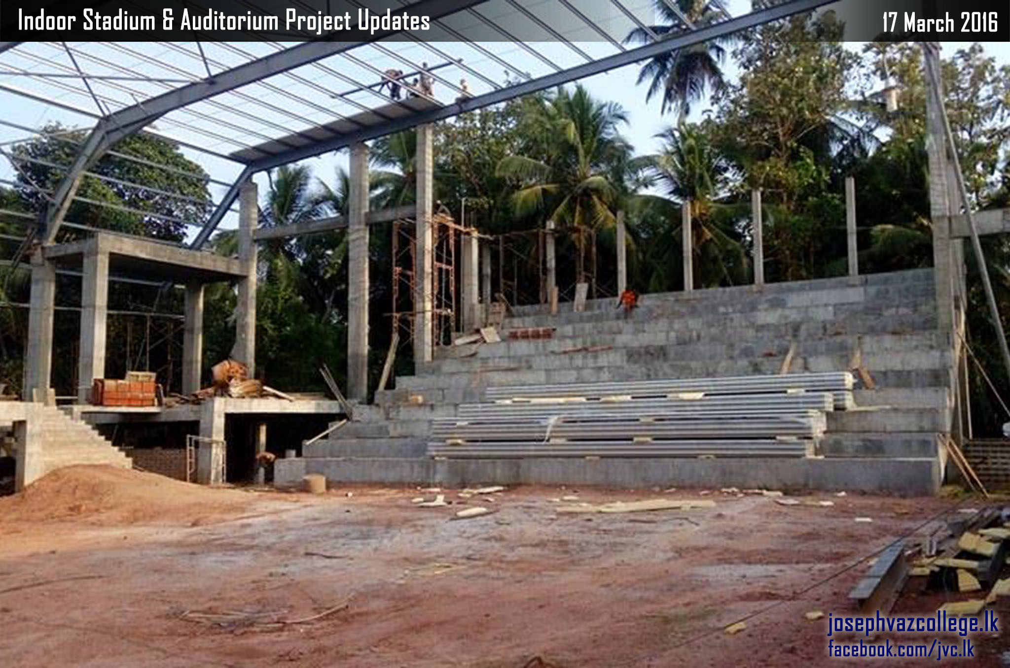 Commencement Of Construction Of Indoor Stadium Updates - Joseph Vaz College